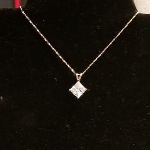 Jewelry - Beautiful sterling silver cz necklace..